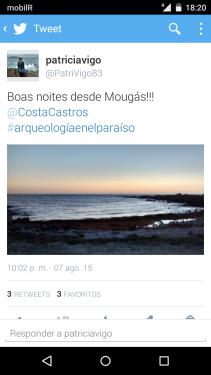 Tuit con anochecer en Mougás (Oia. Pontevedra).