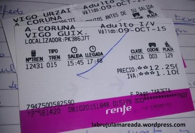 billetes tren Vigo-A Coruña