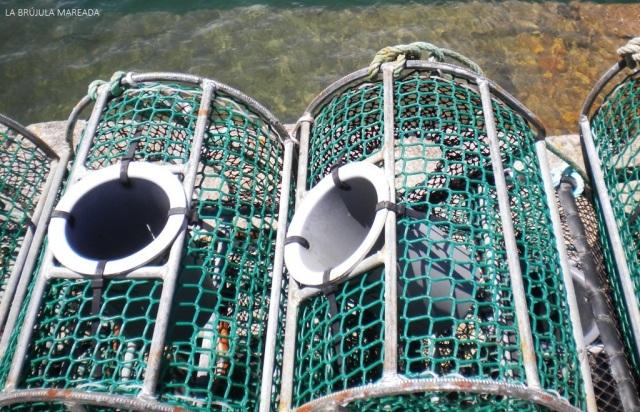 Turismo marinero. Nasas en O Barqueiro (A Coruña - Galicia)