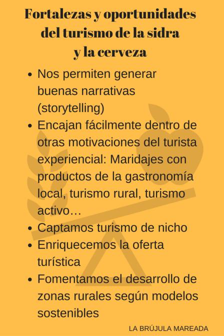 Fortalezas y oportunidades del turismo de la sidra y de la cerveza