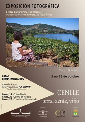 Cartel exposición Cenlle: Terra, Xente, Viño en Ourense