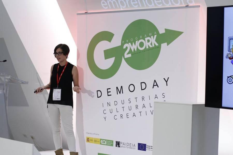 "Presentación ""Patricia Muñoz Raña. Comunicación Turística"" en el Demo Day de Fundación Paideia y EOI, en Spin2016."