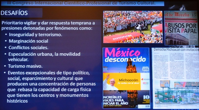 Turismo cultural en ciudades Patrimonio Mundial México. Desafíos. ICOMOS.