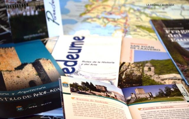 Material de información turística recogido en mi viaje por Pontedeume y Fragas do Eume.