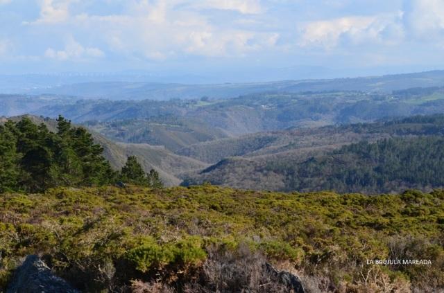 Estas eran las vistas desde uno de las zonas altas de la ruta de Pena Fesa.