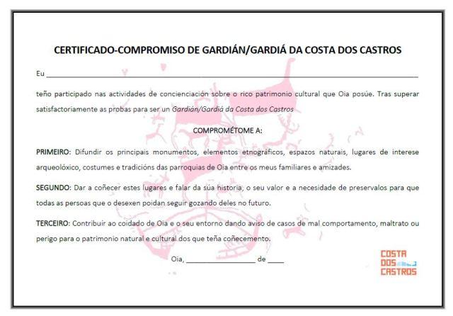 Guardián del patrimonio de Costa dos Castros Oia